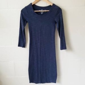 H&M Fitted Jersey Midi 3/4 Sleeve Dress